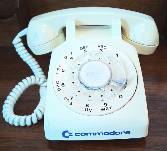 Vintage COMMODORE branded rotary TELEPHONE by Northern Telecom Canada EXCLUSIVE