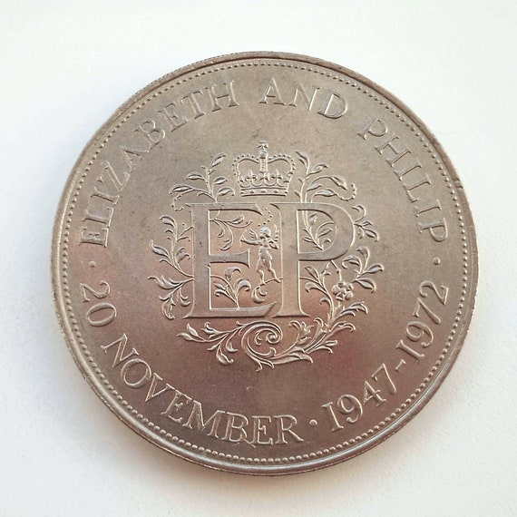 Royal Anniversary COIN, 20 November 1972 38mm Medal commemorating the first silver wedding anniversary Prince Philip and Queen Elizabeth II