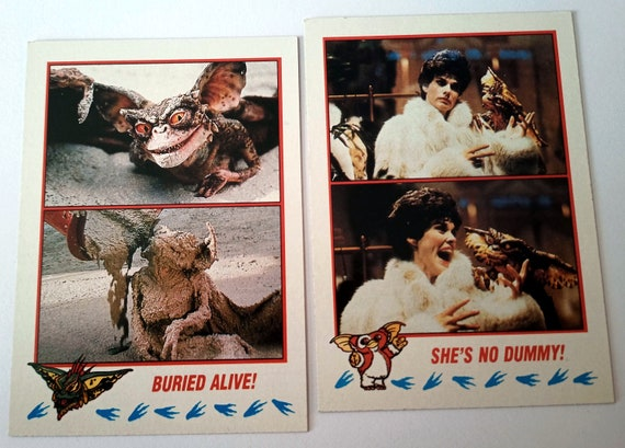 Gremlins Trading Cards, 2-pack bubble gum trading cards from the 80's movie, Gremlins 2: The New Batch, excellent condition, card 57, 68