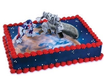Transformers Optimus Prime and Megatron Cake Kit