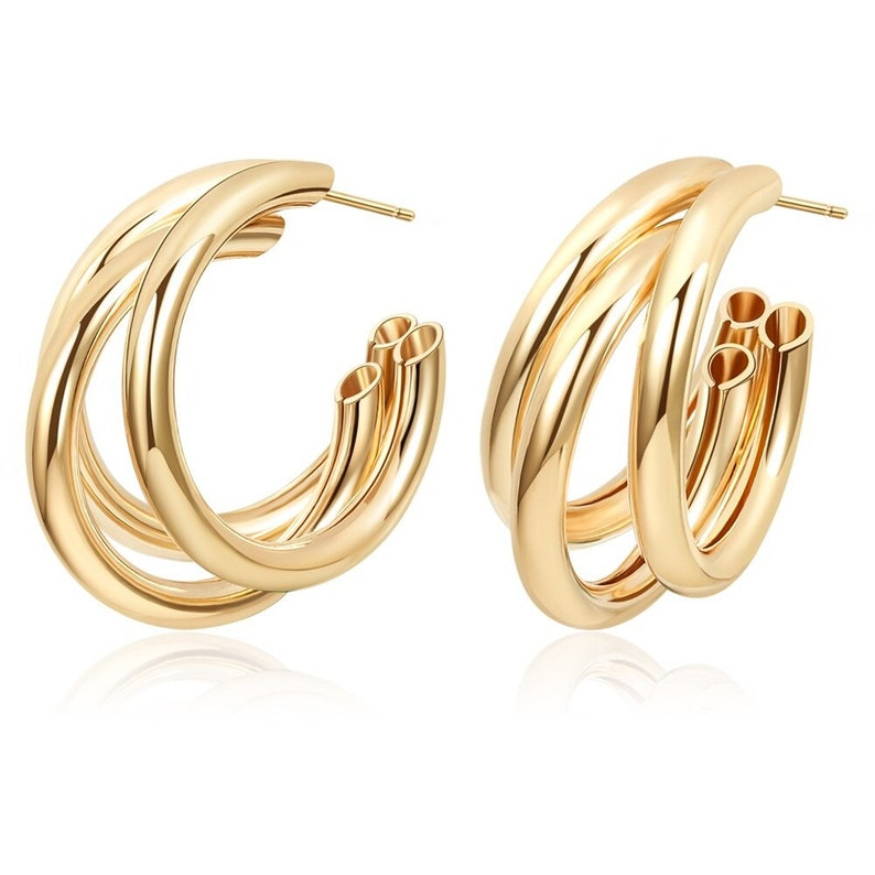 New Gold Color Earrings