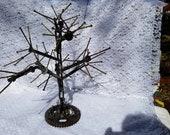 jewelry tree welded metal folk art upcycle