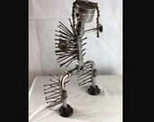 cheif welded metal folk art