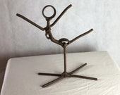 ballerina welded metal folk art upcycle