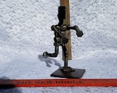 wide receiver,welded art,sculpture,repurposed parts, upcycle