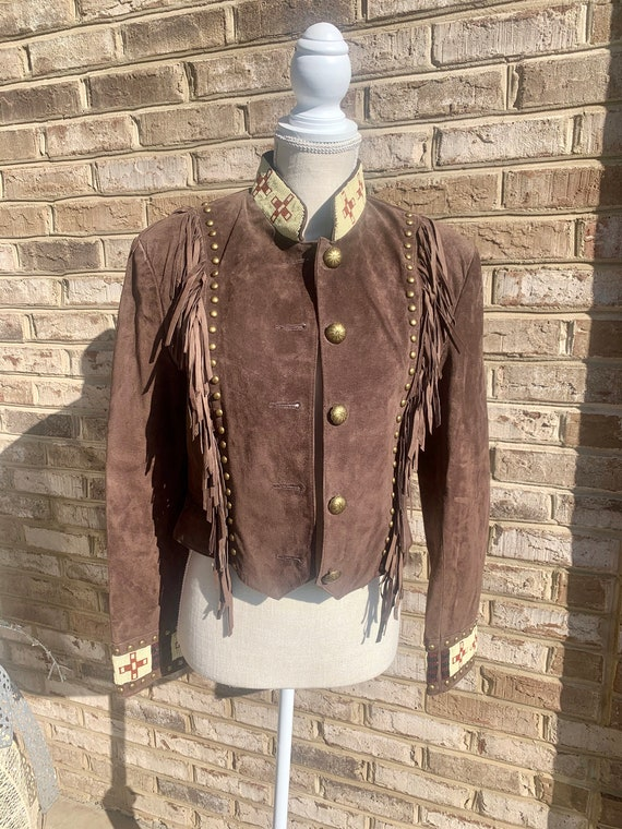 Vintage Scully suede and beaded western jacket
