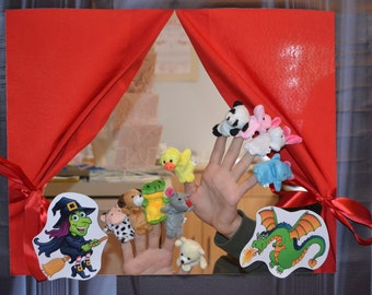 Personalized puppet theatre, doorway theatre, theatre with puppets