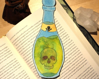 Original Hand Painted Poison Bottle Bookmark