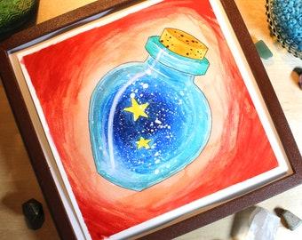 Star Potion - Original Watercolor Picture