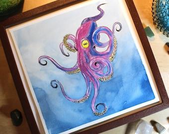 Squid - Original Watercolor Picture