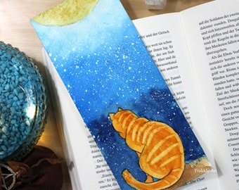 Original Hand Painted Orange Cat Bookmark