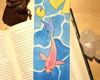 Original Hand Painted Fish Pond Bookmark