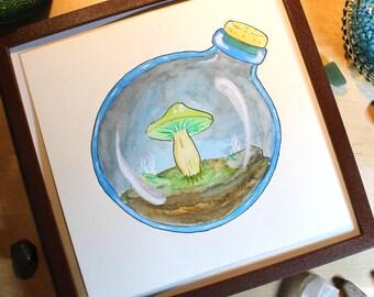 Mushroom Biome - Original Watercolor Image