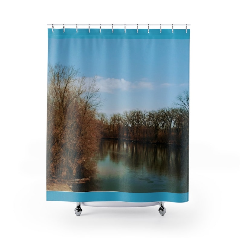 Let the river run Shower Curtains