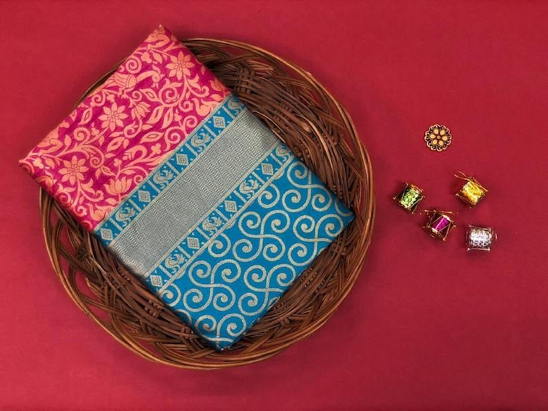 Multi Colore Designer Bold And Beautiful Sari Indian Traditional Saree Bollywood Style Exclusive Party Wear soft lichi Silk Sari
