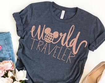 World Traveler Shirt,Traveler Shirt, Women's Travel Shirt, Vacation Shirts, Girls Tank Top, Girls Trip Shirts