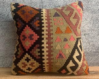 Turkish Kilim Pillow 16\u00d724 \u0130nches Lumbar Pillow Cover Cushion Cover Throw Pillow Hemp Pillow Linen Pillow Aztec Pillow Unic Organic 1299