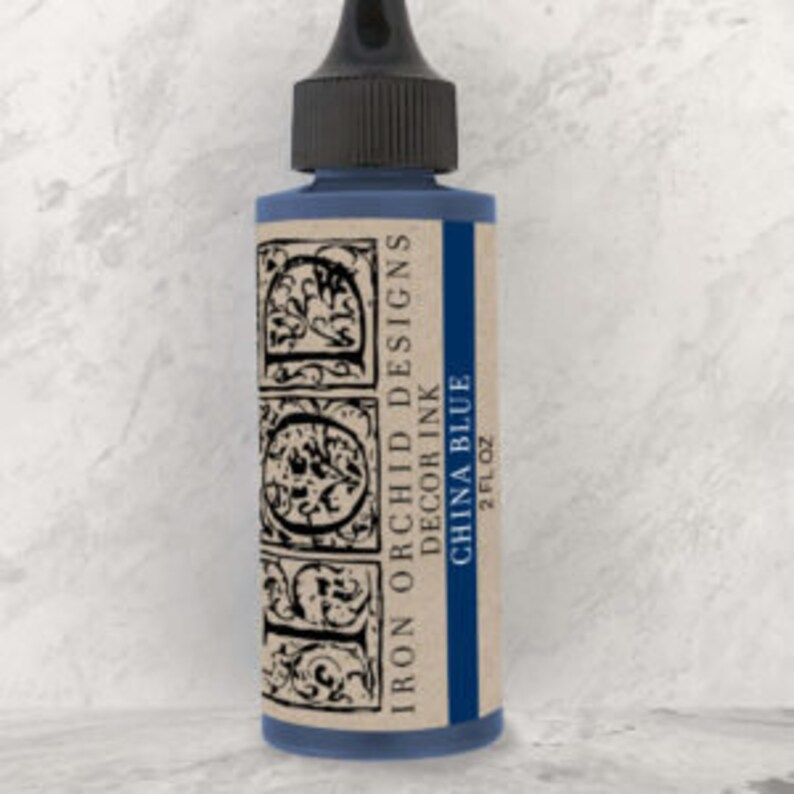 Iron Orchid Designs Decor Ink China Blue
