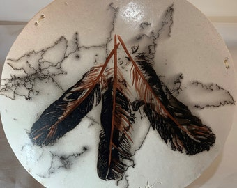Horsehair and Feathers Shield