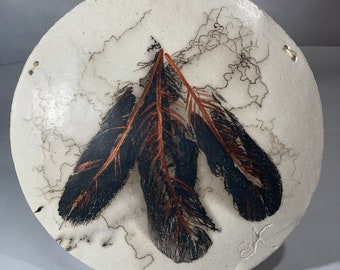 Small Horsehair and Feathers Shield