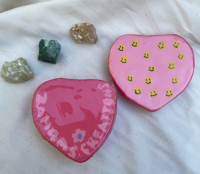 Heart smiley face jewelry box