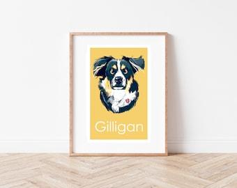 Custom Pet Portrait Hand Painted 16 x 20  Portrait of Your Dog or Cat or Horse Pet Lover Pets Portrait Personalized