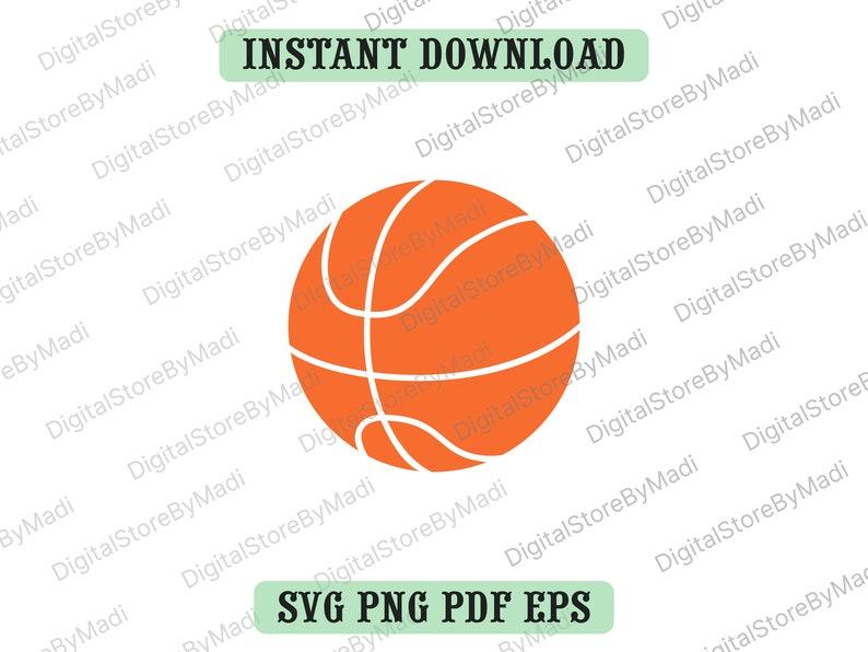 svg, eps, pdf, png Basketball Cut Files Basketball SVG Basketball PNG Digital Download files for Cricut Basketball Silhouette