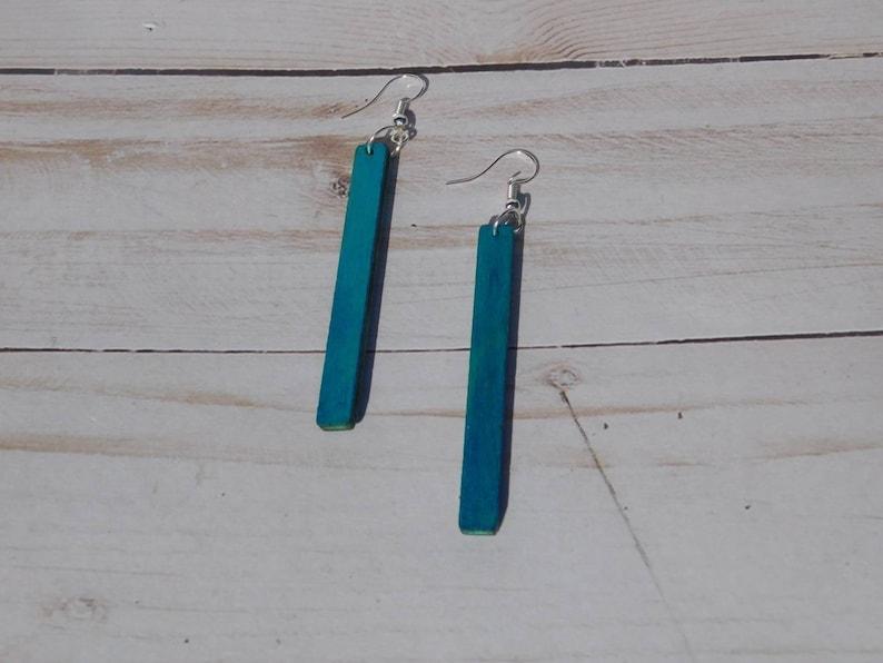 Simple Bar Wood Earrings