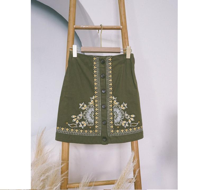 Embroidered Wrap Skirt Floral Skirt Brocade Pattern Skirt Floral Embroidery Skirt Ethnic Brocade Wrap Skirt Gifts for Women Gifts for Girls