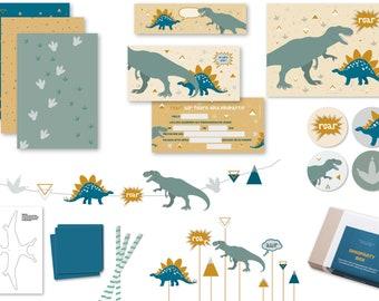Dinoparty Box | Tyrannosaurus | Invitation Dino | Birthday Decoration Boys | Dinosaur Birthday | Cake plug dinosaur