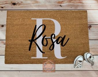 Family Name/Last Name/Monogram Personalized Doormat/Custom Doormat/Housewarming Gift/ REaltor Closing Gift/ Mother's Gift