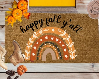 FALL DOORMAT COLLECTION / Pumpkin Spice / Happy Fall Y'all / Fall Vibes / Autumn Blessings / Thankful / Hello Fall