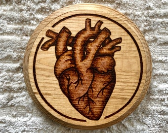 valentine gift cardiologist gift heart plate. halloween kitchen anatomical heart eat your heart out 7 dessert plate goth tableware