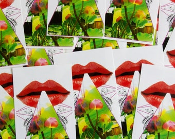 Stickers with a unique motif, to stick or give away, conjure up a smile on your face