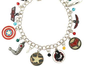 Winter Soldier / Falcon Charm Bracelet