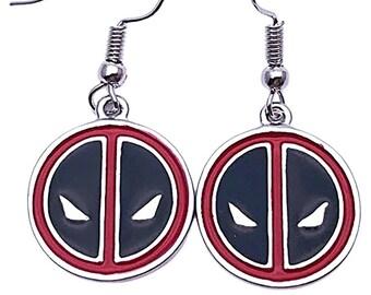 Deadpool Earrings Generic Handmade Hypoallergenic