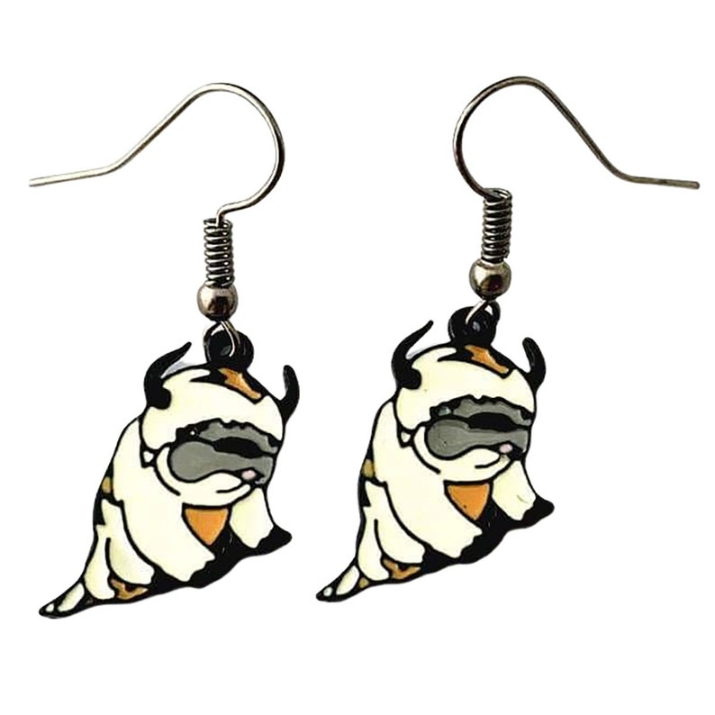 Hypoallergenic Dangle Earrings Appa Avatar the Last Airbender Clip On Earrings Available