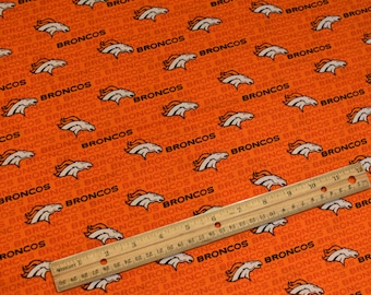 """NFL Denver Broncos Mini Print* Fabric By The Yard - 100% Cotton"""" -  """"Same Day Shipping!!!!"""""""