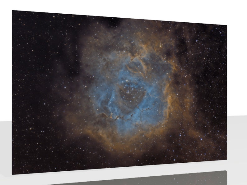 Kunstdruck Wandbild Rosettennebel NGC 2238 Alu Dibond image 0
