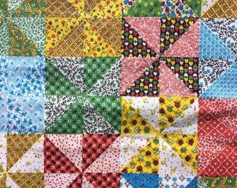 1Yard Vintage African Fabric Calico Batik Cloth Flower Quilt Clothing Sewing DIY
