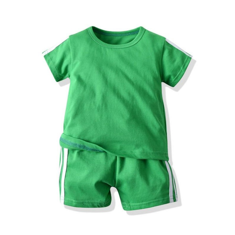 comfy boys outdoor outfits 100/% cotton Green sets for kids