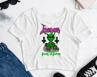 Army green Shrug  Witch clothing  Techno Trance festival   Geometric Print  crop top  Long sleeves  QUANTUM Samurai Forest BLACKBOHEM