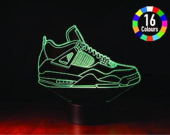 Sneakers-Smart 3D lamp-Birthday gift for boy-Music Sync Night light-Room decor-RGB 16 Million colors by app control-Novel gift