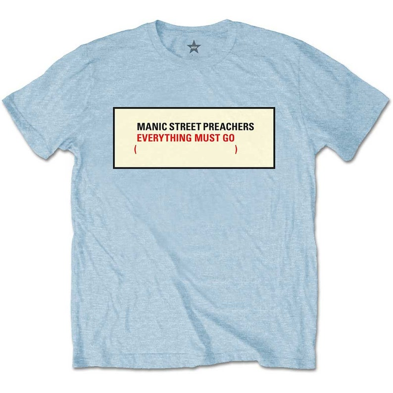 Manic Street Preachers Unisex Tee Everything Must Go
