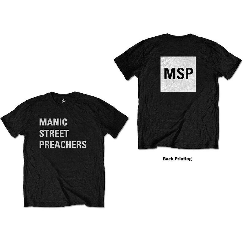 Back Print Block Logo Manic Street Preachers Unisex Tee