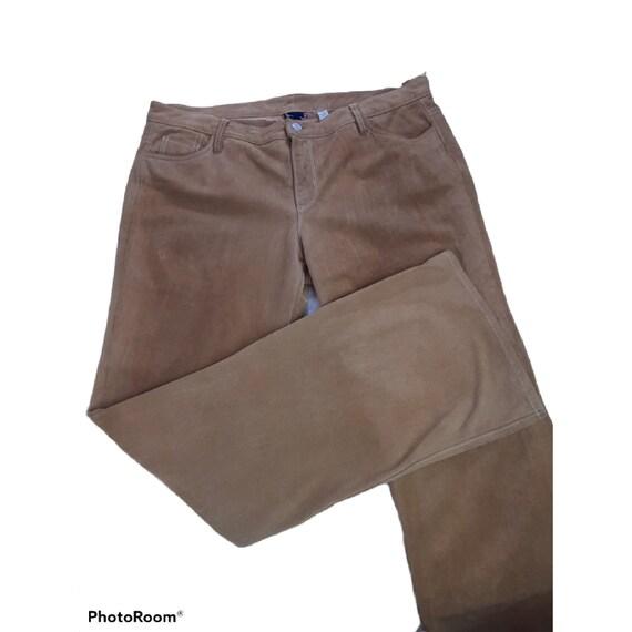 Vintage Genuine leather suede pants gap