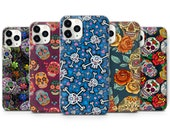 Sugar Skull Phone Case Mexican Pattern Case For iPhone 7, 8 , XS, XR, 11, 12 Pro Samsung S10 Lite, S20 A40, A50, A51, Huawei P20, P30