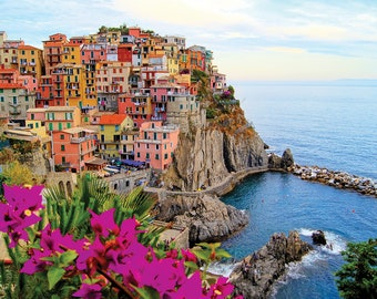 1000 Piece Jigsaw Puzzle ,Puzzle For Adults ,Colorful Puzzle ,Premium Puzzle Mothers Day Gift For Her Village of Manarola Cinque Terre Italy
