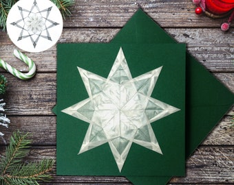 Handmade Window Star Greeting Card and Window Decoration, Christmas, Birthday, Well Done