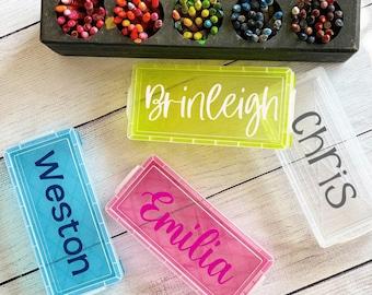 Personalized Pencil/Pen Box | Back to School Marker Box | Personalized Marker Box | Pencil box with name | School supply box | Art Case